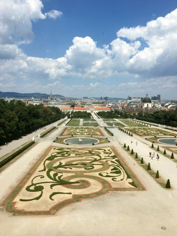 Belvedere palace and garden