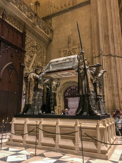 Tomb of Christopher Columbus in Seville Cathedral
