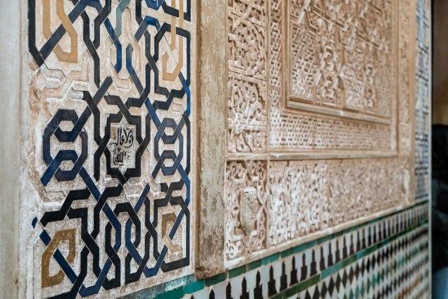 Alhambra tile mosaic detail
