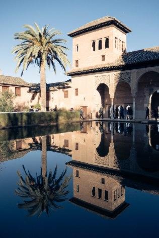 The Partal pool in the Palacio de Generalife