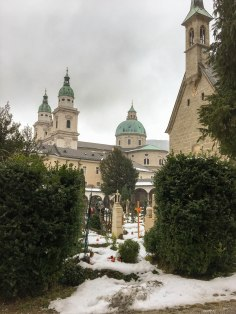 Salzburg Cathedral from the Petersfriedhof Cemetery