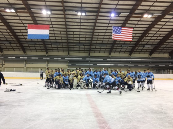 Veterans Day friendly game between the Tornado Luxembourg and the Spangdahlem Air Base Varsity Team